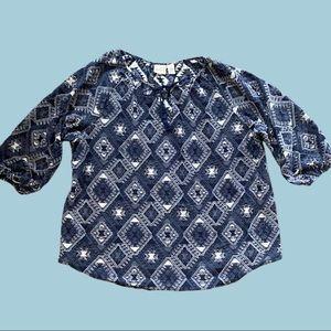 CHICO'S peasant style boho shirt.